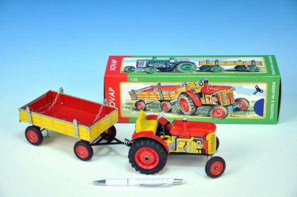 Traktor Zetor s vlečkou na kľúčik - červený - Kovap