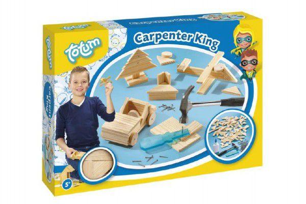 Šikovný truhlář dřevo + doplňky v krabici 33x23x6cm
