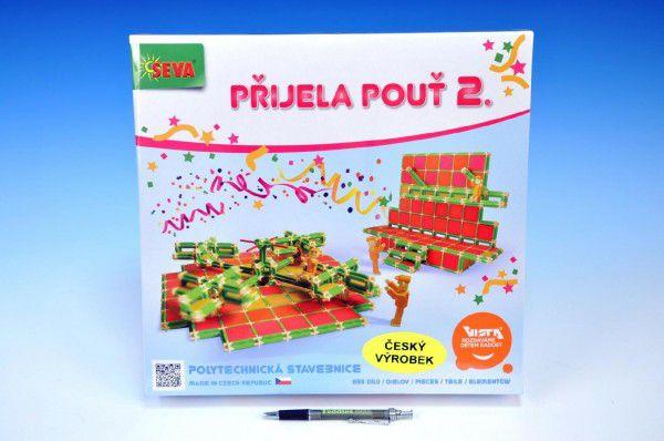 Stavebnice Seva Přijela pouť 2 plast 693ks v krabici 34,5x32,5x8cm