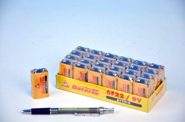 Baterie Prima 6F22/9V zinkochloridové - 2 ks
