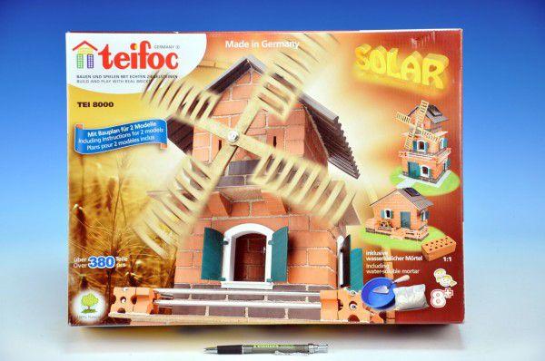 Stavebnice Teifoc Mlýn - solární pohon 380ks v krabici 44x33x11cm