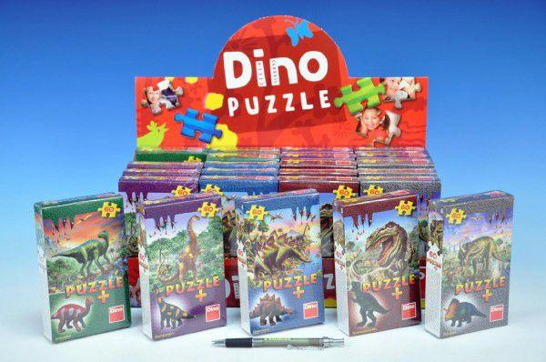 Puzzle Dinosauři 23,5x21,5cm 60 dílků + figurka - 6 druhů