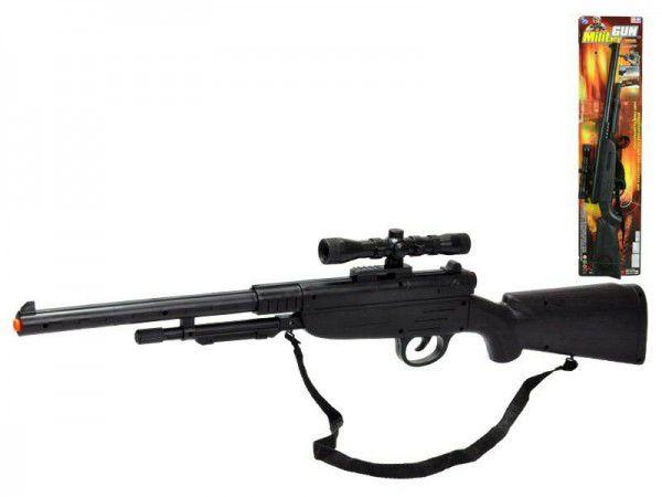 Pistole - Puška plast 67cm klapací na kartě