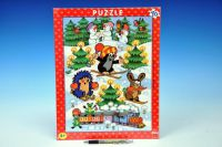 Puzzle deskové Krtek na sněhu 29x37cm 40dílků