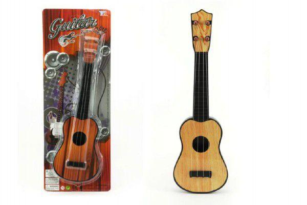 Kytara plast 40cm asst 2 barvy na kartě