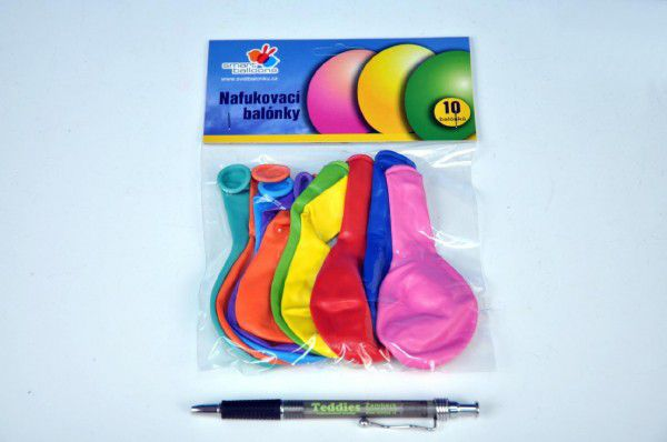Balónik nafukovací 12cm - 10ks