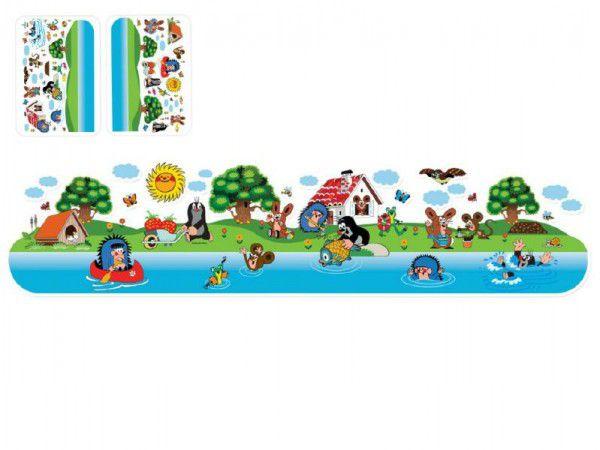 Dekorace Krtek nálepky na stěnu 2listy 60x38cm na kartě