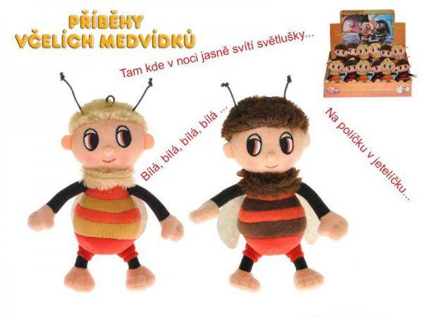 Příběhy včelích medvídků - Čmelda a Brumda plyš 15cm na baterie s písničkami 12ks v boxu