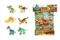 Veselá zvířátka Dinosauři plast 6ks na kartě 26x35x4cm