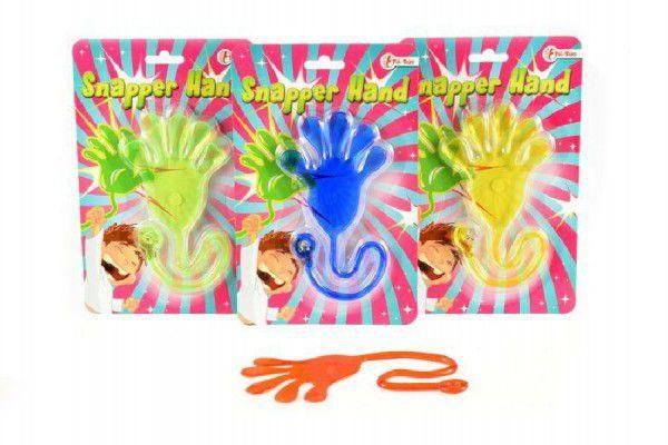 Sliz ruka asst 4 barvy na kartě 14x22cm