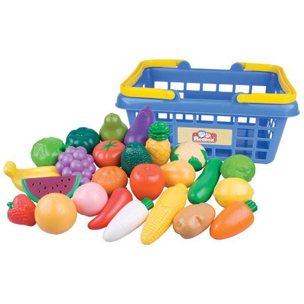 Nákupní košík ovoce/zelenina 25ks plast 28x13x22cm v síťce