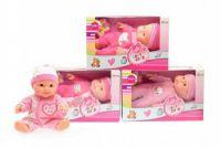 Miminko/panenka plast 22cm pevné tělo asst v krabici