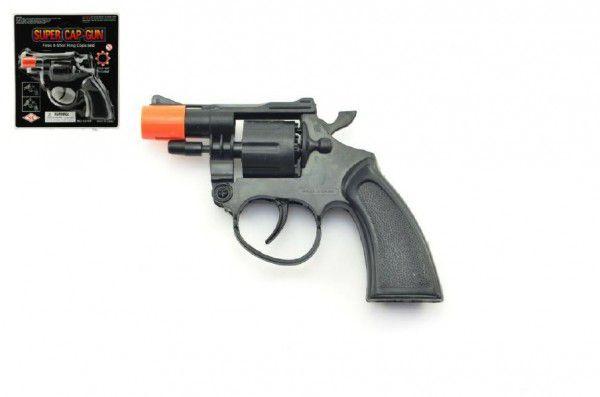 Pistole - Kapslovka plast 13cm 8 ran na kartě