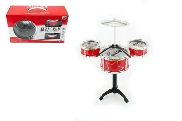 Bicí souprava/bubny 4ks plast v krabici 34x20x14cm