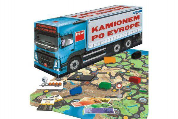Kamionem po Evropě společenská hra v krabici 36x16x10cm