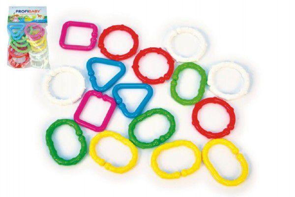 Řetěz/zábrana tvary plast 7cm 16ks v sáčku 3m+