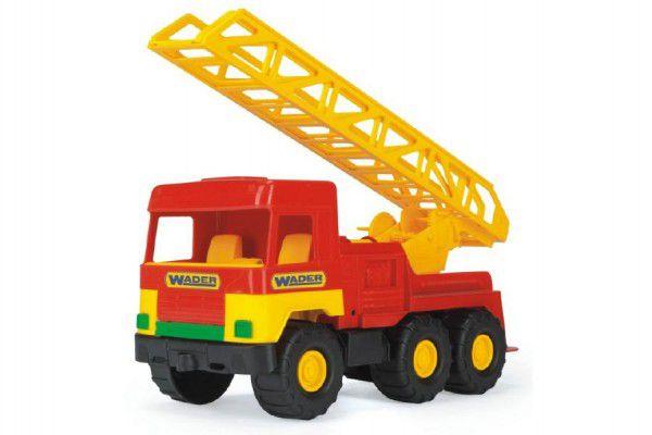 Auto middle Truck hasiči plast 47cm Wader v sáčku