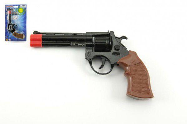 Pistole - Kapslovka kov 19cm 8 ran na kartě