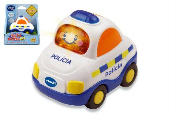 Autíčko Tut Tut Policie česky mluvící plast 8cm na baterie se zvukem se světlem v krabičce