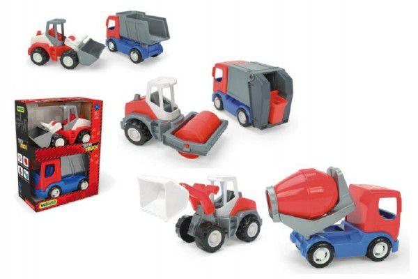 Wader Tech Truck auto stavební set 2 ks 23 cm 2v1 plast