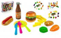 Krájecí ovoce a zelenina plast 20ks - 4 druhy