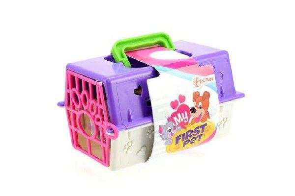 Přenosný box + zvířátko plast 16,5x12x9,5cm asst 3 druhy v sáčku