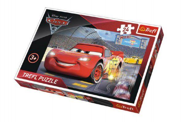 Puzzle MAXI Auta/Cars 3 Disney 24 dílků 60x40cm v krabici 39x26x4cm