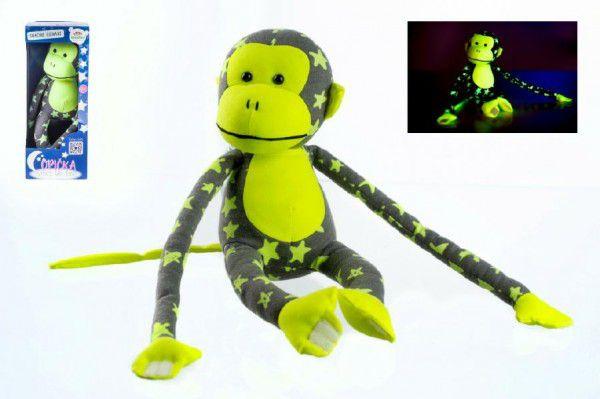 Opička svietiaca v tme šedá/žltá