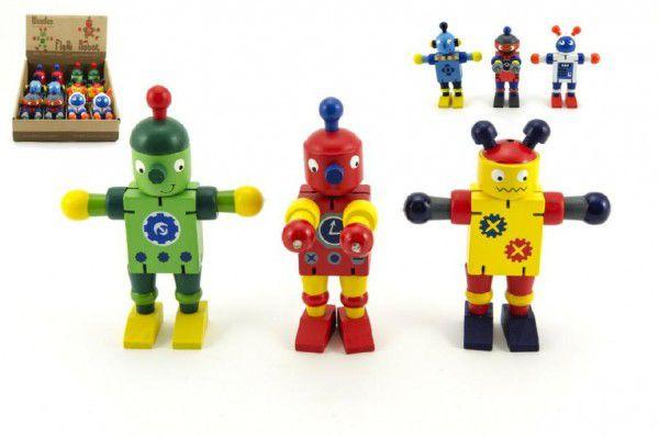 Robot dřevo 12cm - 6 druhů