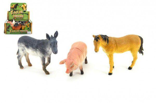 Zvířátka farma plast 12cm - 3 druhy
