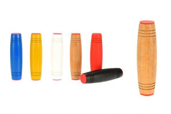 Fidget Tumbler dřevo 9cm antistresový váleček - 6 barev