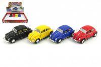 Auto Kinsmart VW Classical Beetle kov 13cm na zpětné natažení - 4 barvy