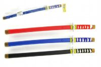 Meč v pouzdru Ninja plast 60cm asst 3 barvy v sáčku
