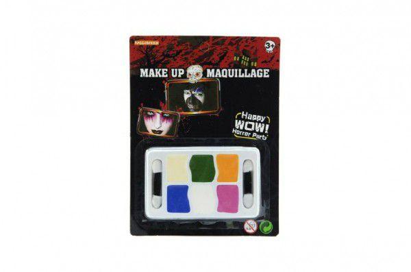 Barvy obličejové na kartě 14x18cm karneval