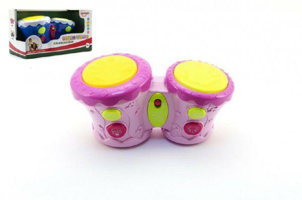Bubínky plast 23cm na baterie se zvukem se světlem - 2 barvy