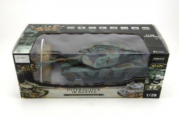 Tank RC plast 33cm M1A2 27MHz na baterie+dobíjecí pack se zvukem a světlem v krabici 40x15x19cm