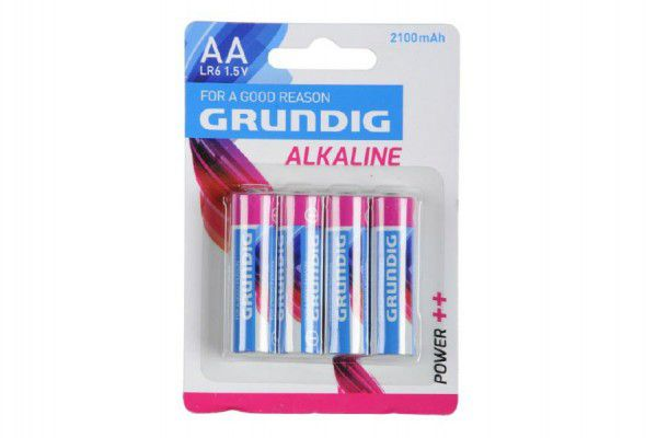 Baterie Grundig LR6/AA 1,5V Alkaline 4ks na kartě