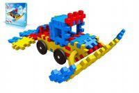 Stavebnice Blok Ski plast 116 dílků v krabici 35x34x5cm