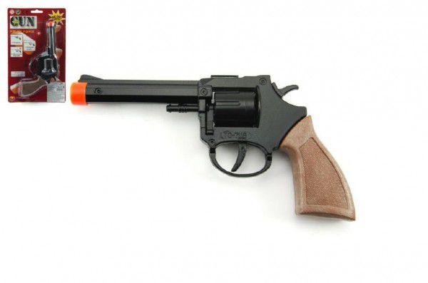 Pistole kapslovka 18cm kov 8 ran na kartě