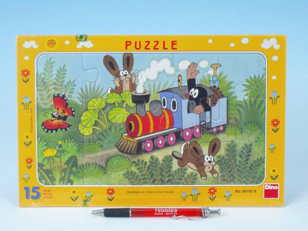 Puzzle Krtko a lokomotíva