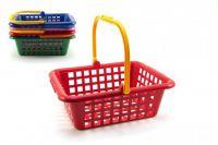 Nákupní košík plast 30x11x27cm asst 4 barvy 12m+
