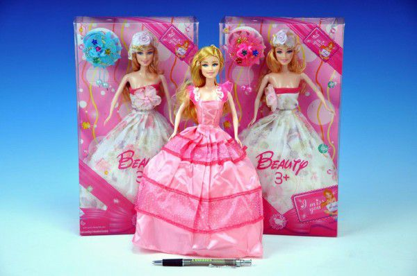 Panenka Princezna kloubová s doplňky 30cm pohyblivé ruce asst 2 druhy v krabici