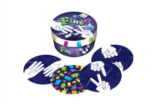 Fingo společenská hra v plechové krabičce 8x8cm