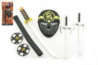 Ninja set s maskou + meč 46cm plast na kartě