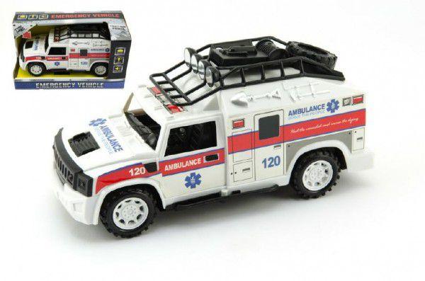 Auto ambulancia 25cm plast v krabici