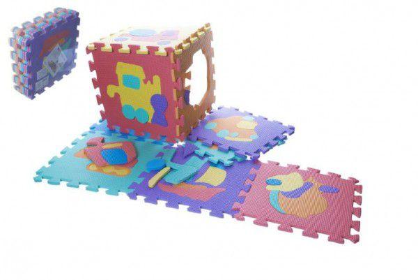 Pěnové puzzle dopravní prostředky 29x29x8,5cm 10ks v sáčku