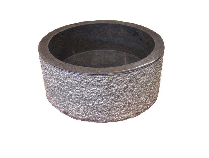 Umývadlo z prírodného kameňa MIRUM 509 Ø 45 cm Black
