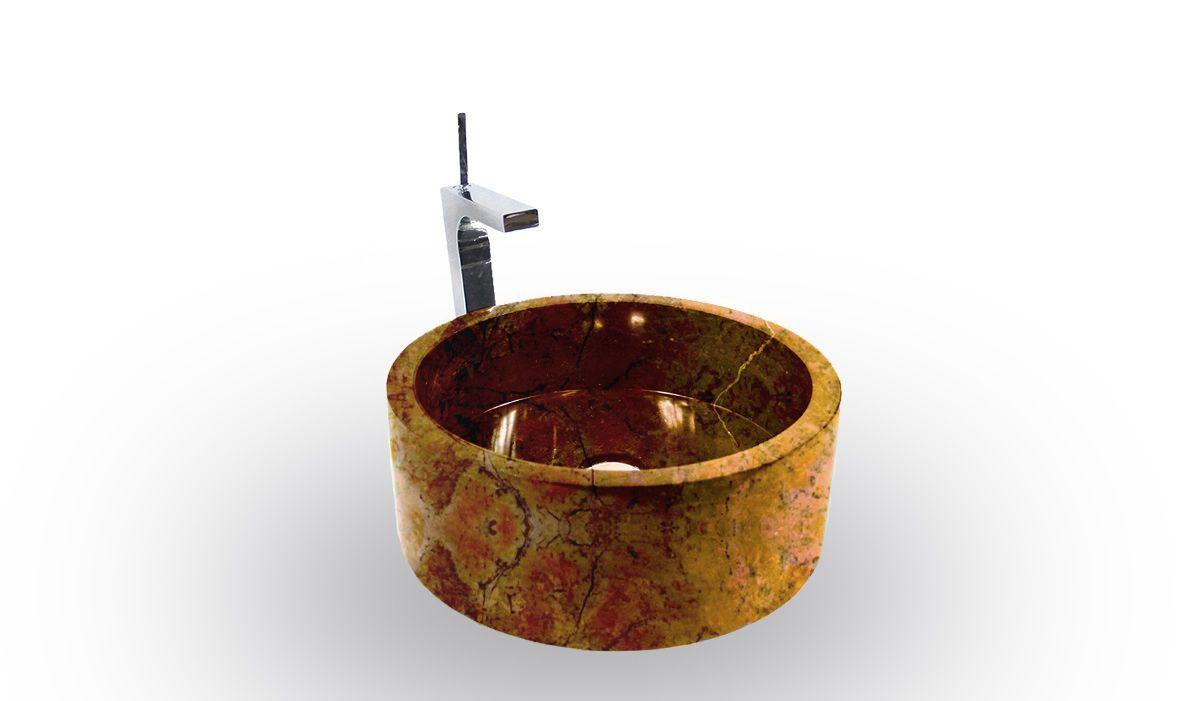 Umývadlo z prírodného kameňa Mirus 509 na dosku Ø 45 Yellow