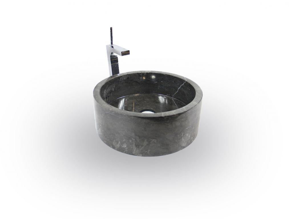 Umývadlo z prírodného kameňa  Mirus 509 na dosku Ø 40 Black
