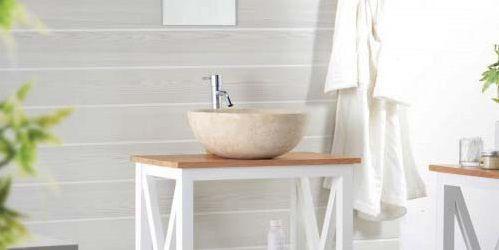 Umývadlo z prírodného kameňa Gemma 501 leštený mramor Ø 40 cm Cream